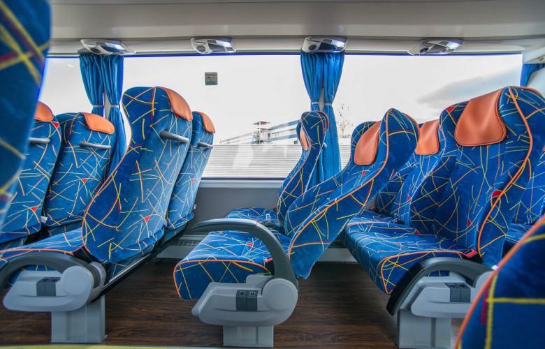 Пассажирские сидения в автобусе Yutong ZK6122H9
